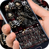 App Death skull brother gun king theme keyboard APK for Windows Phone