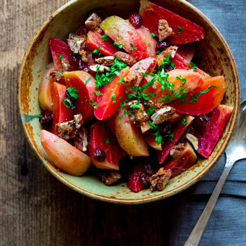 Beets with Cranberries and Spiced Nuts