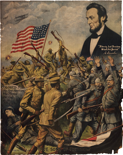 "More than 350,000 African Americans <a href=""http://www.gilderlehrman.org/history-by-era/world-war-i/resources/recruiting-posters-for-african-american-soldiers-1918"">enlisted</a> and served in segregated units. W. E. B. Du Bois, a leader of the African American movement for civil rights, had opposed black participation in the ""white man's war."" After the United States entered the war, however, he wrote in <i>The Crisis</i>:"