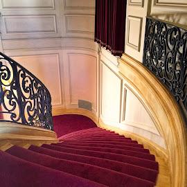Staircase by Debra Branigan - Buildings & Architecture Architectural Detail ( architectural detail, rosecliff, buildings and architecture, staircase, photography )