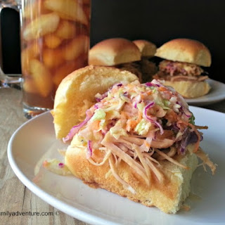 Carolina Pork Sliders and Sweet Coleslaw
