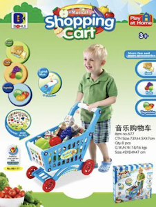 """Игровой набор серии """"Профессии"""", тележка супермаркета, голубая"""