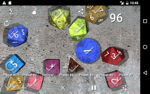 DnDice - 3D RPG Dice Roller Screenshot