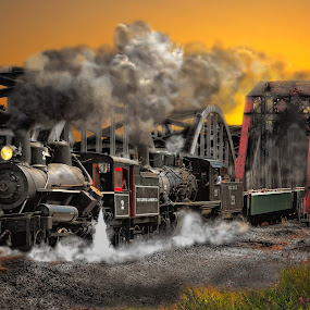 Double Header IV.jpg by Nickel Plate Photographics - Transportation Trains