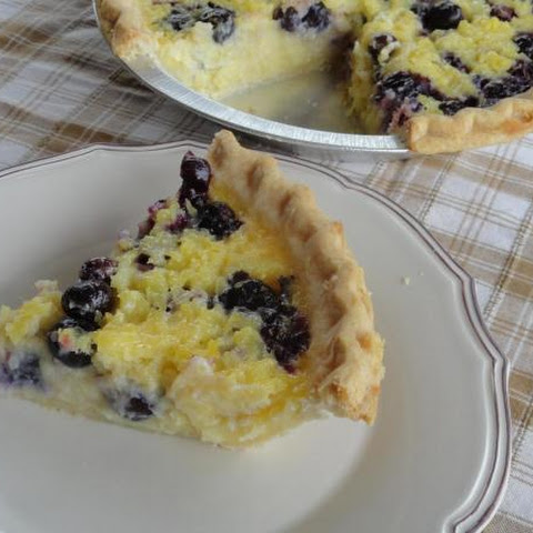 Pineapple Blueberry Chess Pie