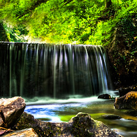 Waterfall by Iva Marinić - Landscapes Waterscapes ( nikon d, landscape photography, nature, waterscape, waterfall, stones, water, trees, colorful, photography, landscape,  )