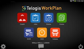 Screenshot of Telogis WorkPlan