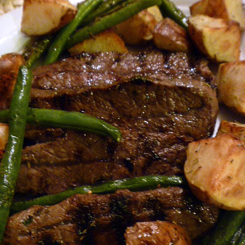 Red Wine and Rosemary Flat Iron Steak