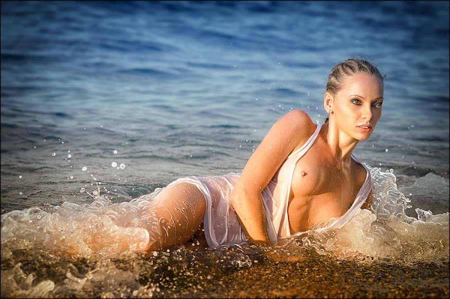«Sea nymph» by Andrei Kisliak - Nudes & Boudoir Artistic Nude ( water, nude, girl, wave, sea, summer, beach, nymph )