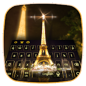 APK App Night Eiffel Tower Keyboard Theme for BB, BlackBerry