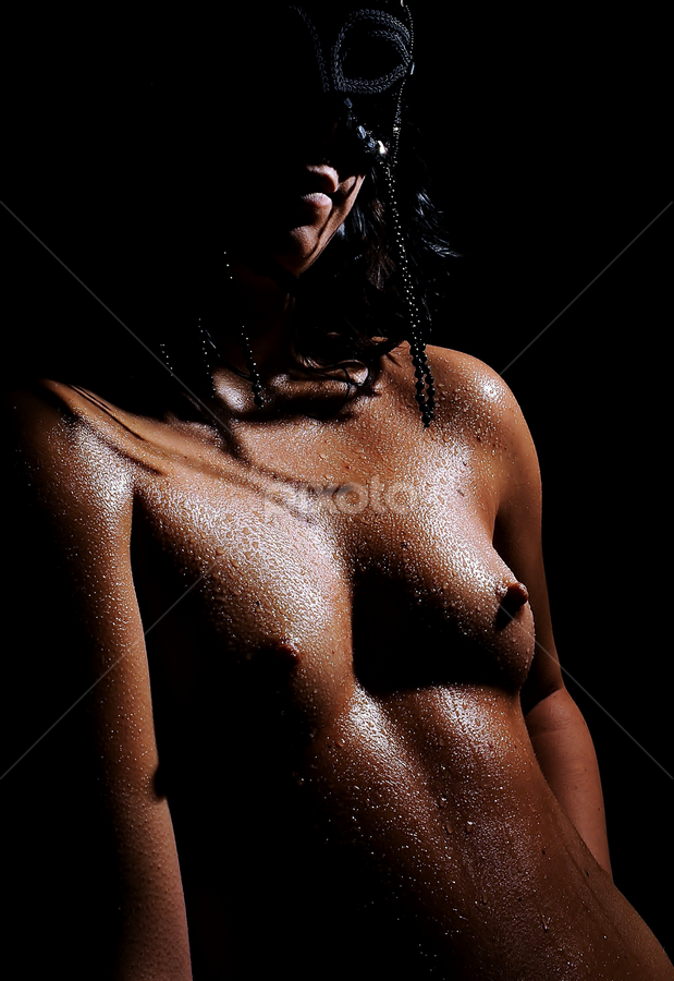 Shadows by Vineet Johri - Nudes & Boudoir Artistic Nude ( water, girl, nude, art, mask, shadows )