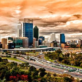 Perth, Australia by Rudi Yanto - City,  Street & Park  Skylines