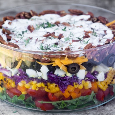 Layered Rainbow Salad
