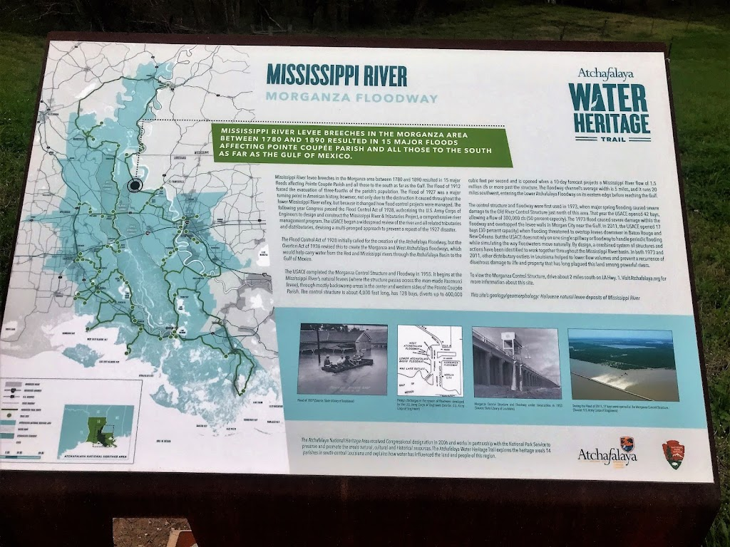 Mississippi River levee breeches in the Morganza area between 1780 and 1890 resulted in 15 major floods affecting Pointe Coupée Parish and all those to the south as far as the Gulf of Mexico. ...