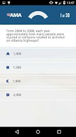 Screenshot of AMA Learner's Practice Exam