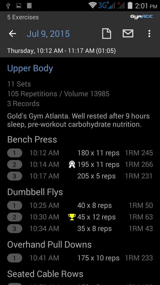 GymACE Pro: Workout Tracker & Body Log Screenshot 5
