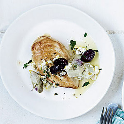 Chicken Breasts with Artichoke-Olive Sauce