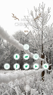 Bright scenery sky snow theme - screenshot