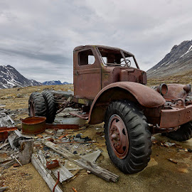 Truck 4x4 by Fokion Zissiadis - Transportation Automobiles ( greenland arctic military base abandoned )