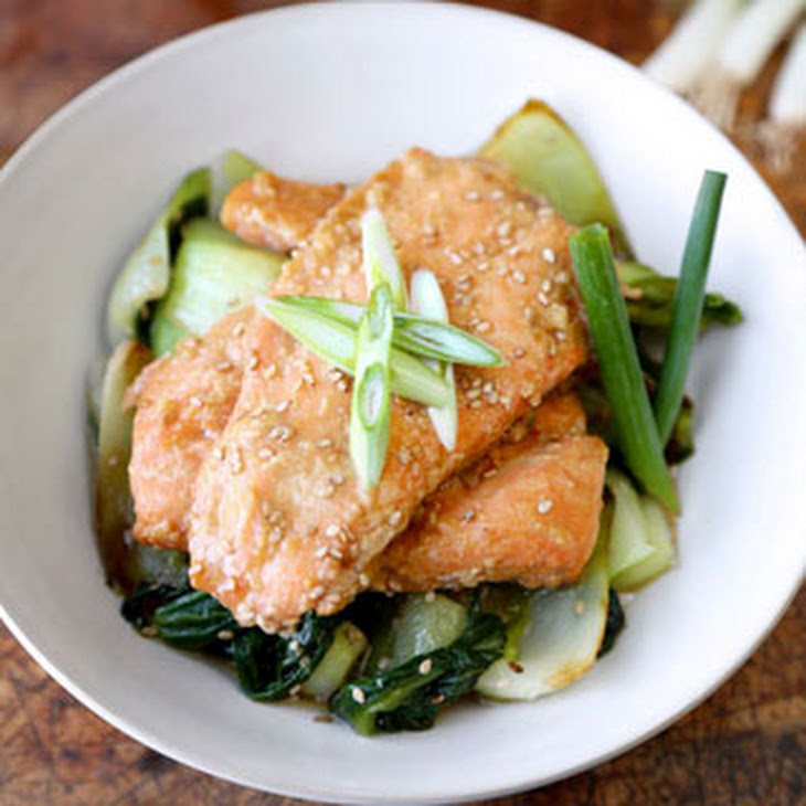 with bok choy spicy salmon with bok choy and rice recipe real simple ...