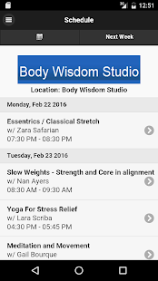 Body Wisdom Studio - screenshot
