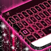 Download Pink Neon Keyboard Theme 2017 APK on PC
