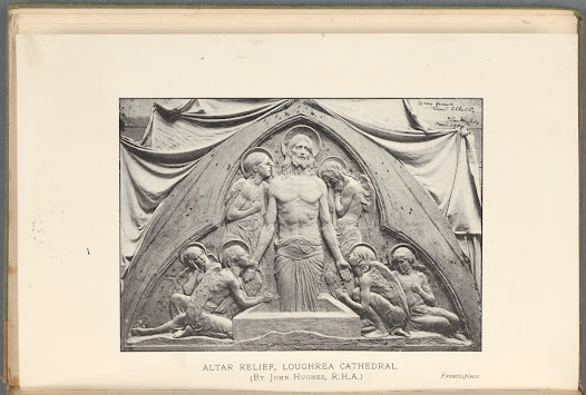 Robert Elliott in Art and Ireland (1907) called for the Church to support native Irish artists when decorating its buildings. He writes of this relief by John Hughes: 'It is, in the most forceful language that I can command – the work of an artist. It infects one with a feeling of a great and sorrowful joy.'