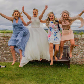 Wedding Fun !  by Gordon Bain - Wedding Other ( wedding, fort feorge ., highlands, leap )
