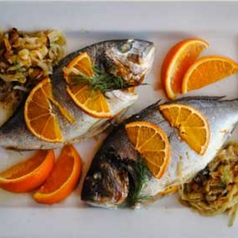 Bake Bream with Orange and Fennel