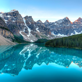 Moraine Lake Reflections by Zachary Lai - Landscapes Mountains & Hills (  )