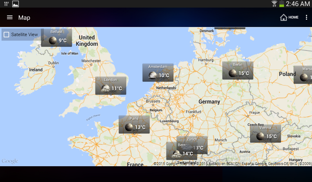Wetter & Uhr Widget für Android (Wettervorhersage) – Screenshot