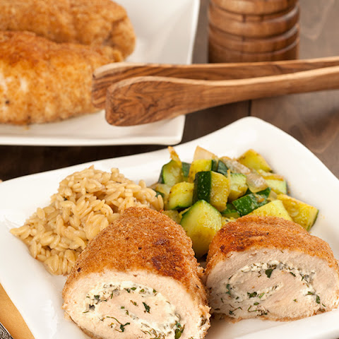 Herbed Goat Cheese Stuffed Chicken Breasts