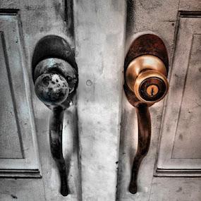 Enter by Rachel Santellano - Abstract Fine Art ( hdri, front door, hdr, exterior, door, artistic object, house )