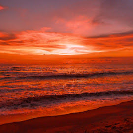 Painted Sky by Charmini Delgoda - Landscapes Beaches ( sunset, beautiful, beach, landscape, photography )