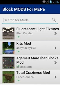 Block MODS For McPe - screenshot
