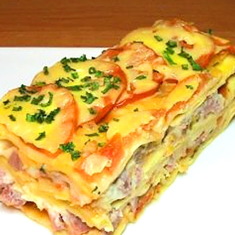 Ukrainian Omelette With Ham And Vegetables