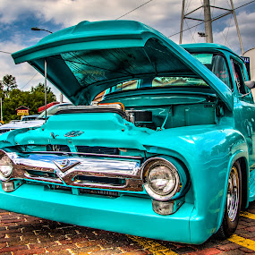 Blue truck by Jackie Eatinger - Transportation Automobiles (  )