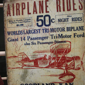 World Largest Tri Motor Co by David Jarrard - Artistic Objects Signs (  )