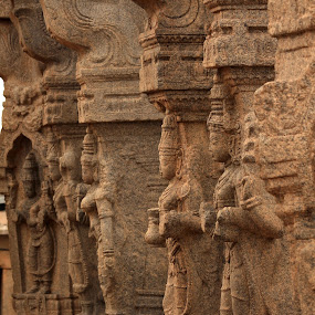 Walls of Lepakshi by Srivenkata Subramanian - Buildings & Architecture Architectural Detail ( temples, sculpture, ancient, canon 1100d, india, pillar, archeology, vijayanagara kingdom,  )
