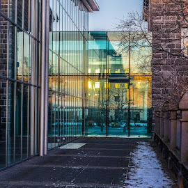 Reflection by Edvald Geirsson - Buildings & Architecture Architectural Detail ( reflection, iceland, glasses, reykjavik, parliament building )