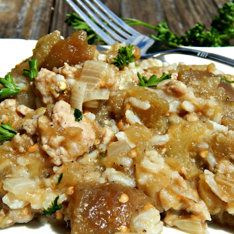 Smothered Eggplant Rice Dressing