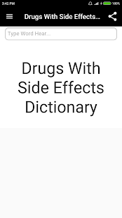 Drugs Side Effects Dictionary screenshot for Android