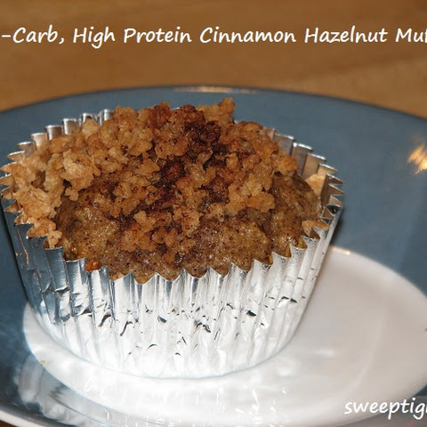 Low Carb High Protein Cinnamon Hazelnut Muffins