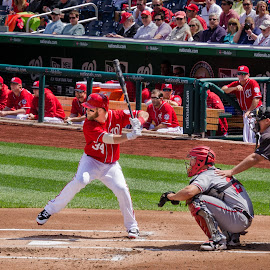 Now Batting, No. 34 - Bryce Harper! by Gary Stanley - Sports & Fitness Baseball ( baseball, action, america's pasttime, washington dc, bryce harper, washington nationals, nationals park )