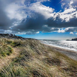 mount grass by Cornish Nige  - Landscapes Beaches ( clouds, sand, sea, beach grass, pathways )