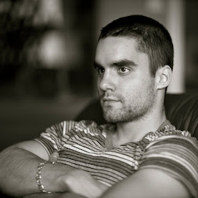 No shave day by Dora Korz - People Portraits of Men ( b/w, young, people, portrait, man )