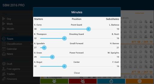 Super Basket Manager 16 PRO - screenshot
