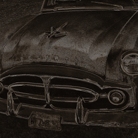 Rusty Packard by Benito Flores Jr - Transportation Automobiles ( rust, car, belton, texas, packard )