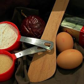 Ingredients by Vera Thyssen - Food & Drink Cooking & Baking ( ingredients, eggs, butter, food, cooking, baking, cookies,  )