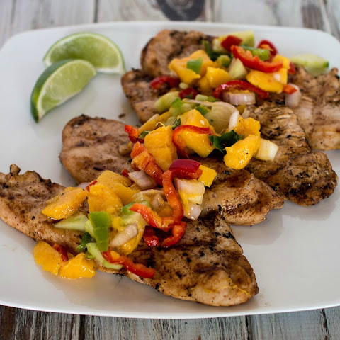 Citrus Turkey Cutlets with Mango Salsa